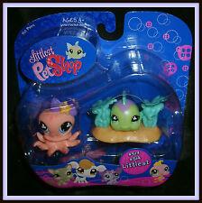 Littlest Pet Shop Pet Pairs #513 #514 Littlest Fish & Octopus NIP