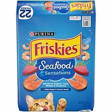 Purina Friskies Seafood Sensations Adult Dry Cat Food Seafood Flavor 22lb.