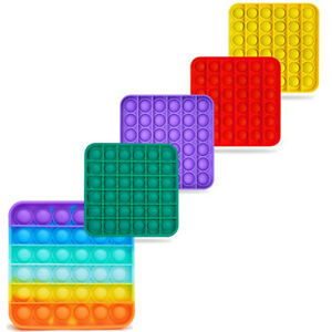 Square Fidget Toy Push Bubble Special Needs Stress relief Kid Tiktok Family game