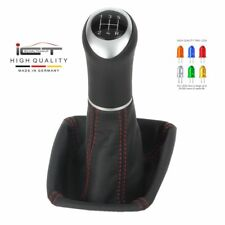 100% leather ICT gear shift knob boot LED Miata Mazda MX5 Typ NA thread red C41