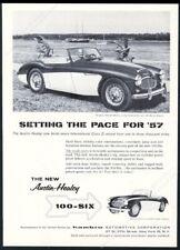 1957 Austin Healey 100 6 Donald Healey photo vintage print ad