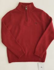 NWT Tommy Bahama Kids Boys Sweater With Front Zipper, Red Tomato,Size 4T Toddler