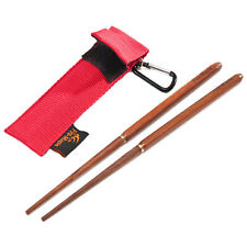New Outdoor Picnic Camping Travel Chopsticks Tableware Foldable Red Sandalwood