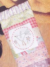 Little Bird Sunglasses Case - stitchery & pieced PATTERN - Hatched & Patched