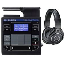 TC Helicon VoiceLive Touch 2 Vocal Effects Looper Processor with M40X Headphones