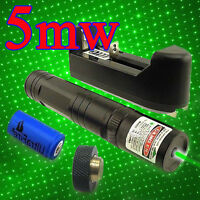 Green Laser Pointer Pen G851 2in1 Military High Power Burning Laser 5mw 532NM