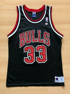 Vintage 90s Champion NBA Chicago Bulls #33 Scottie Pippen Jersey Shirt Size M
