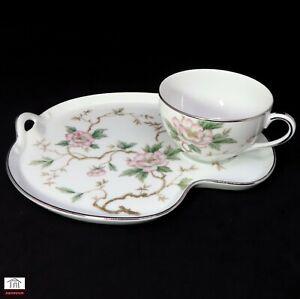 Noritake - CHATHAM 5502 Tennis Snack Set - Tea Cups & Saucer Plate.