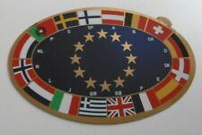 Auto-Aufkleber EU Kennzeichen Europaflagge 16 Länderfahnen 17x11 cm 80s Oldtimer