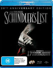 SCHINDLER'S LIST BLU RAY-NEW & SEALED 2 DISC, LIAM NEESON, SPIELBERG, SCHINDLERS