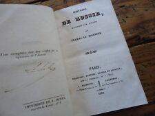 RARE - HISTOIRE DE RUSSIE RACONTEE AUX ENFANS EUGENE LE MONNIER 1834 NAPOLEON