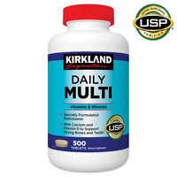 Kirkland Signature Daily Multi Vitamin, 500 Tablets