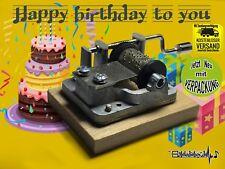 HAPPY BIRTHDAY TO YOU Geburtstag Spieluhr Musikuhr Musicbox Spieldose NEU