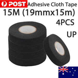 4pcs 19mmx15m Adhesive Cloth Fabric Tape Cable Loom Wiring Harness For Car Auto