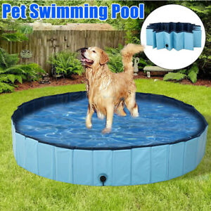 Foldable Dog Pool Pet Swimming Pool Summer Bathing Tub for Dogs Cats FUN