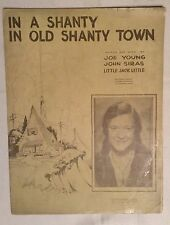 Vintage sheet music In A Shanty in Old Shanty Town - Alice Joy cover 1932