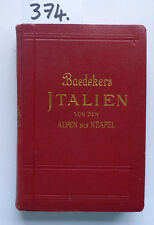 BAEDEKER Italy from the Alps to Naples 1931 (W.)