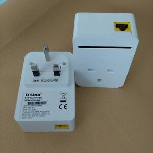 D-Link PowerLine AV Passthrough Mini Adapter DHP‑P308AV 200 Mbps Starter Kit