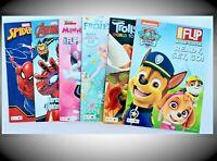 Coloring Activity Books Lot 6 Disney Trolls Avengers Paw Patrol Kids Spiderman