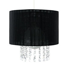 Black  Clear Jewel Ceiling Pendant Light Shade Fitting Chandelier Lampshade NEW