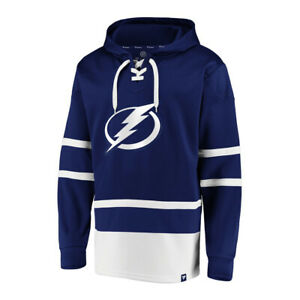 Tampa Bay Lightning Fanatics Iconic Power Play Lace Up Pullover Hoodie Size XL