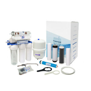 AquaFilter 7 Stage Reverse Osmosis System 75GPD  for drinking water