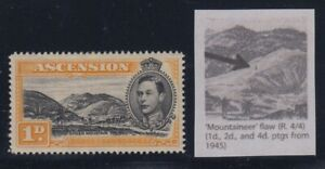 "Ascension, SG 39ca, MHR (couple toned spots) ""Mountaineer Flaw"" variety"