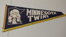 1960s Minnesota Twins BASEBALL FULL SIZE PENNANT Blue VINTAGE Memorabilia