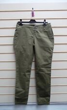 LADIES TROUSERS KHAKI GREEN SIZE 10 CASUAL SUMMER TURN UP STYLE (G018