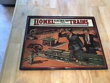 "NEW SEALED LIONEL TRAINS  VINTAGE TIN EMBOSSED SIGN 14"" x 11"" CATALOG COVER 1924"