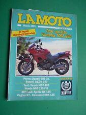 LA MOTO Marzo 1991 Ducati 907 ie Suzuki GSX R 750 GSF 400 Honda NSR 125 F II