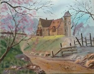 Oil painting 'Haunted House' 40 x50cm on canvas boarby Debra Lohrere