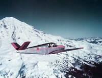 Beech Bonanza Executive Transport Flying Over Mt. Rainier OLD AVIATION PHOTO