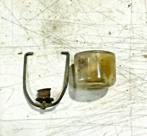 """Glass Bowl Fuel Pump with bail  Fits 5/8 x 2"""" ? old car or truck"""