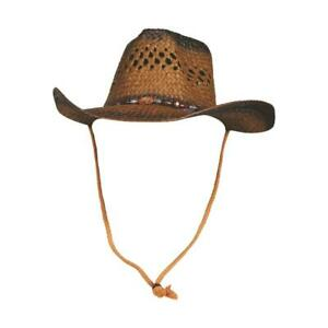 New Ladies Ombre Cowgirl Western Hat Brown with Black Costumania