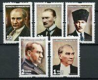 Turkey 2018 MNH Ataturk 5v Set Famous People Historical Figures Stamps