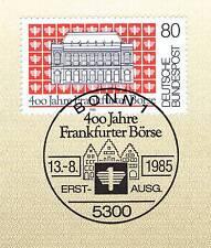BRD 1985: Frankfurter Börse 400 Jahre! Nr 1257 mit Bonner Sonderstempel! 1A! 156