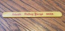 Rare Vintage Scheidt Valley Forge Beer Norristown Pa Foam Scraper