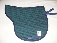 NEW  DIAMOND QUILTED HUNTER & NAVY AP ENGLISH SADDLE PAD (NICE, SMALL QUILT)