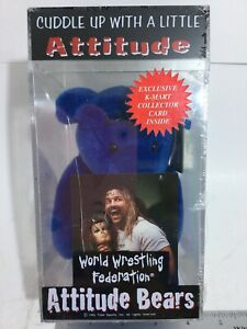 VINTAGE 1999 TITAN SPORTS AL SNOW & HEAD ATTITUDE PLUSH BLUE BABY BEAR MIP NEW