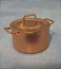 Copper Cooking Pan, Doll House Miniatures, 1/12th Scale Kitchen Accessory