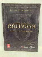Elder Scrolls IV: Oblivion Game of the Year Official Strategy Guide Prima -M55
