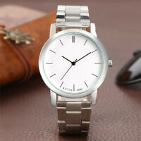 KEVIN Round Case Silver Stainless Steel Band Men Women Sport Quartz Wrist Watch