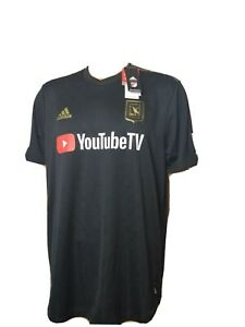LAFC Jersey LA Football Club Black New NWT MLS Soccer Mens Adidas Climacool