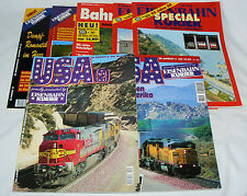 Lot of 7 - Eisenbahn Kurier + Bahn Atlas - German language - train travel