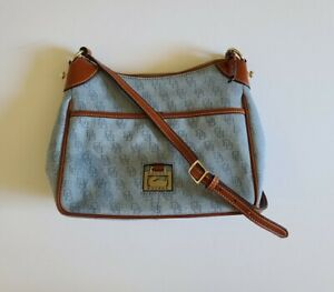 Dooney & Bourke Kimberly Chambray Blue Cotton Denim Messenger Bag
