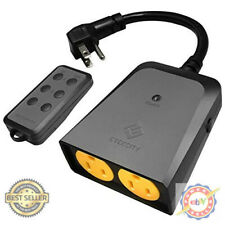 Wireless Outdoor Remote Control Light Switch Outlet Weatherproof 150' Range
