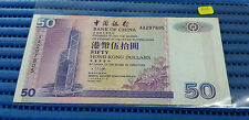 1994 Bank of China Hong Kong $50 Note AA297805 Dollar Banknote Currency