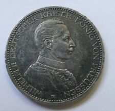 """5 Mark 1913 A """"Wilhelm II Deutscher Kaiser König von Preussen"""", silver coin"""