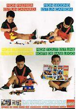 Publicité Advertising 1983 Jeu Jouets lego